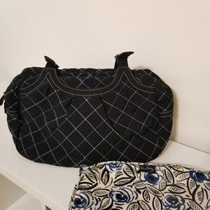 Vera Bradley Quilted Diaper Bag and Changing Pad